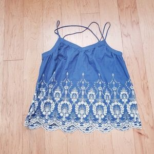 Cremieux Embroidered Cami - Large